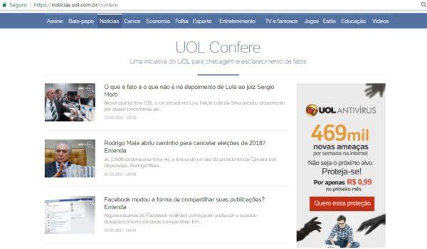 UOL Confere se consolida no combate à disseminação de fake news no Brasil