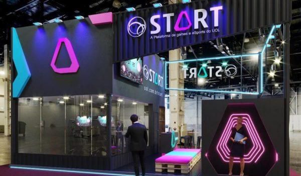 UOL Start estreia conteúdo 360º na BGS, com gameplays e estúdio ao vivo